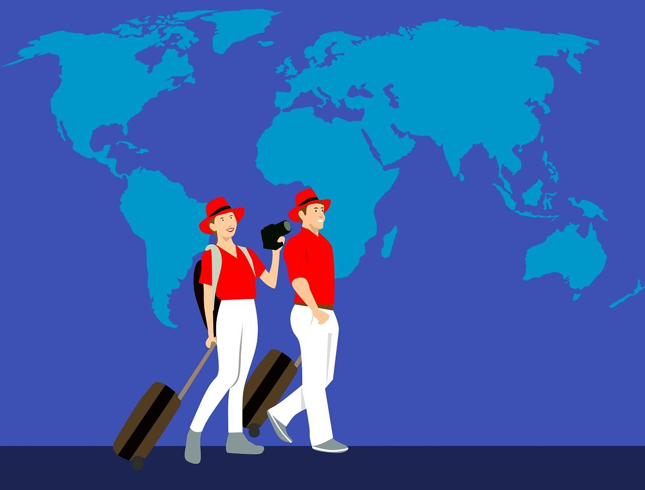 אנשים מטיילים